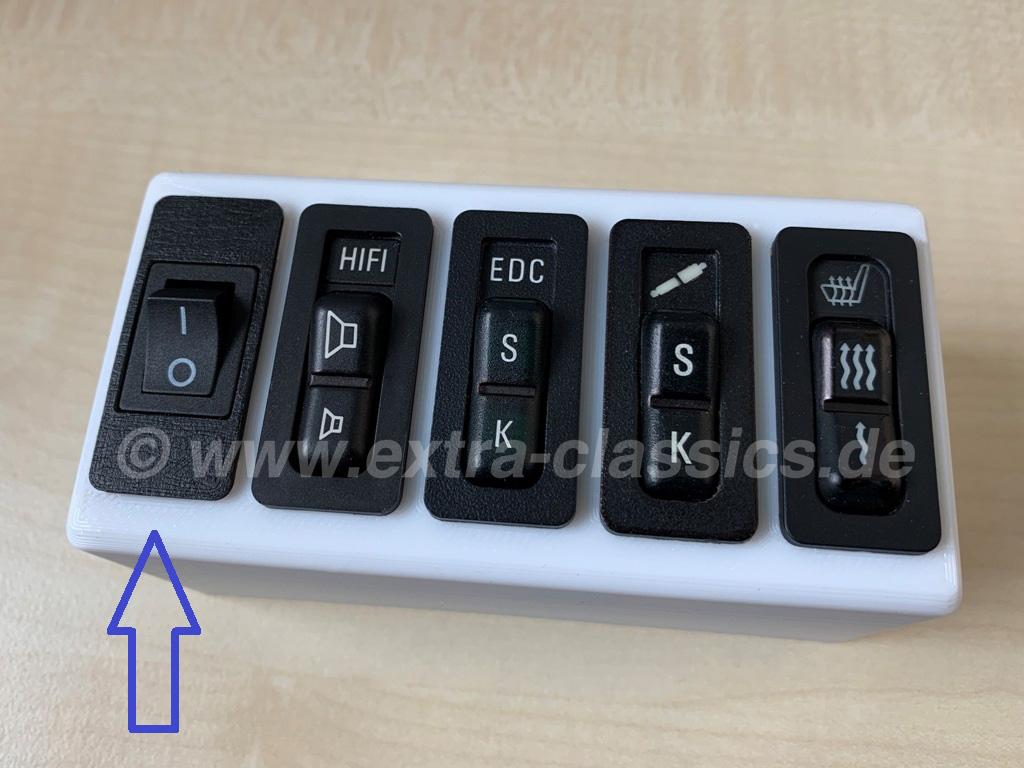Wippschalter 1/0 BMW kompatibel E31 E32 E34 E36 Z3