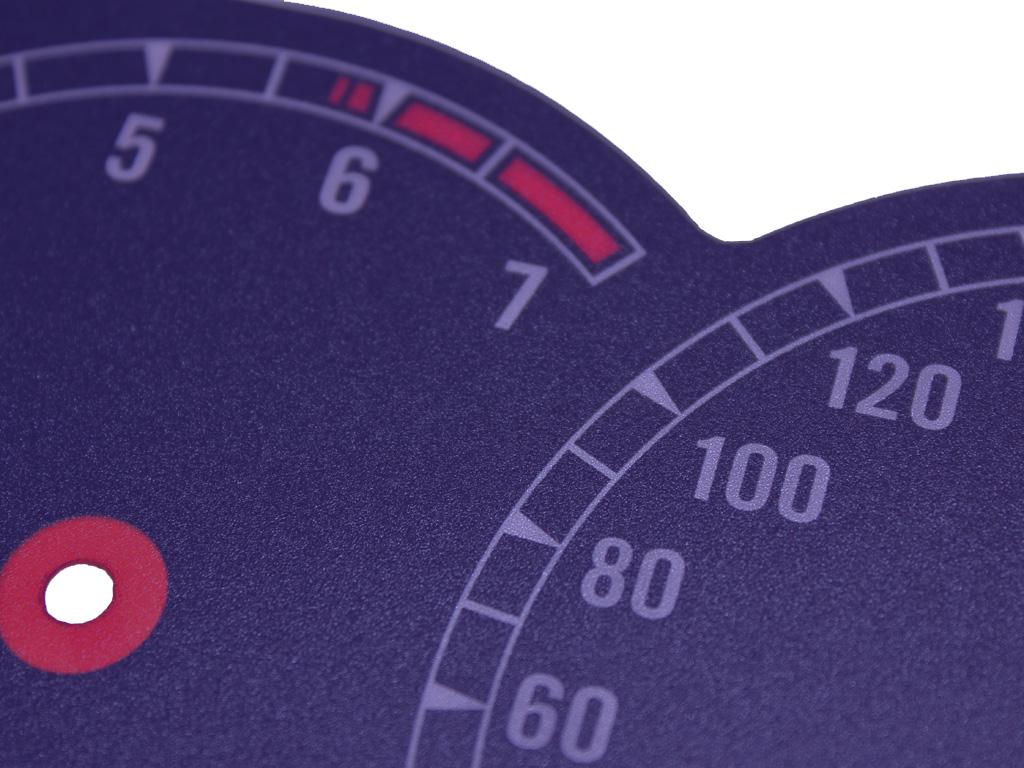 Tachoscheiben 850i bläuliches Design für den 8er BMW E31 mit Skala bis 300km/h
