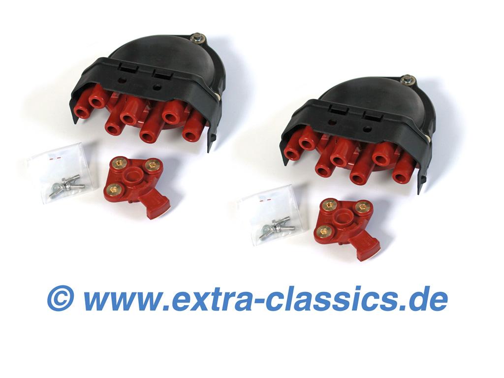 Satz Verteilerkappen mit Verteilerläufer V12 8er BMW E31 850i CSI 7er E32 E38 750i M70 S70 M73 M73N Zündverteiler