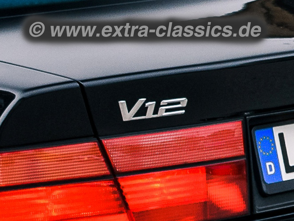 BMW V12 Emblem für die Zwölfzylinder E31 850i E32 E38 E65 750i 12-Zylinder