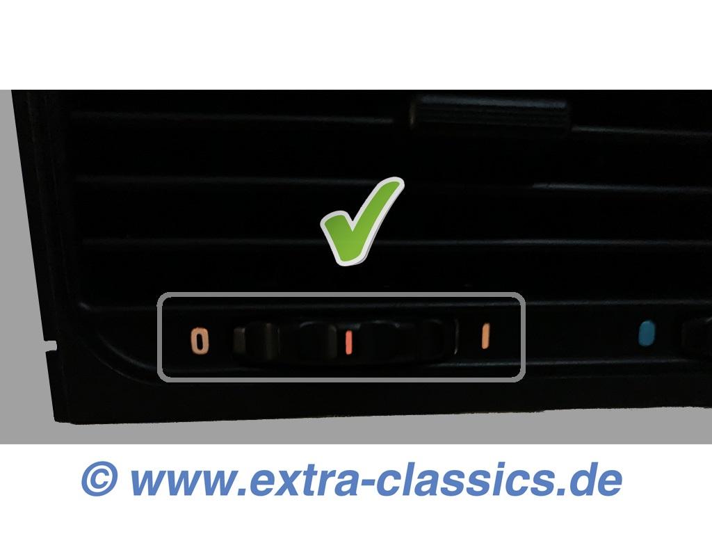 Umrüstsatz auf LED 8er Frischluftdüse 64221383084 BMW E31 Frischluftgrill Ausströmer Mitte