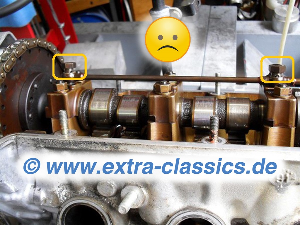 Sicherungsbleche für Ölversorgung Hohlschrauben der Nockenwellen M70 S70 BMW E31 E32