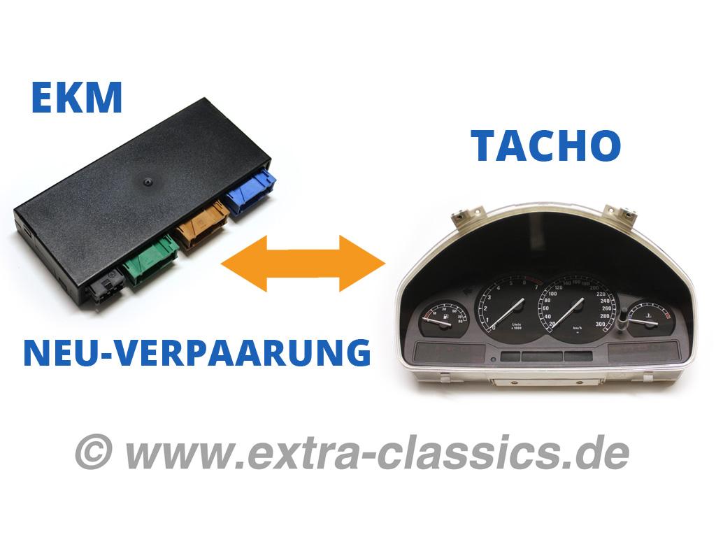 EKM  / Tacho Neu-Verpaarung - 8er BMW E31 Karosseriemodul und Kombi-Instrument Abgleich