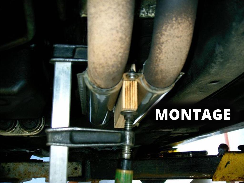 Hitzeschutzblech Edelstahl vor Katalysator 8er BMW 850i E31 7er 750i E32 Reparatursatz Abgasrohr Auspuff