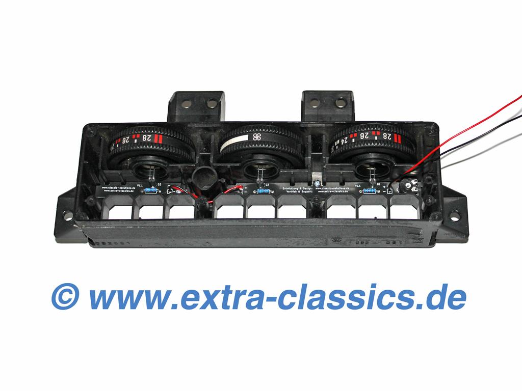 Klimabedienteil Beleuchtung LED Umbau-Satz 8er BMW E31 IHKA 840i 850i csi Alpina