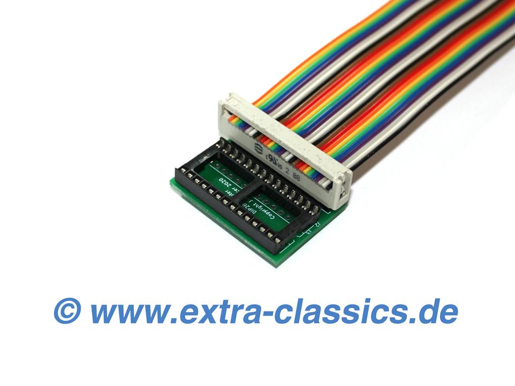 Programmieradapter mit Verlängerung für EPROM Typ 27Cxxx 28 PIN DIP28 DIL28